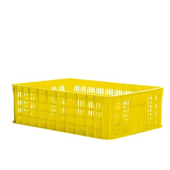 Perforated plastic crate 1T9