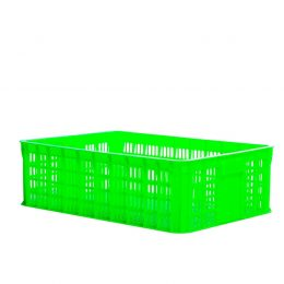 Perforated plastic crate 1T9