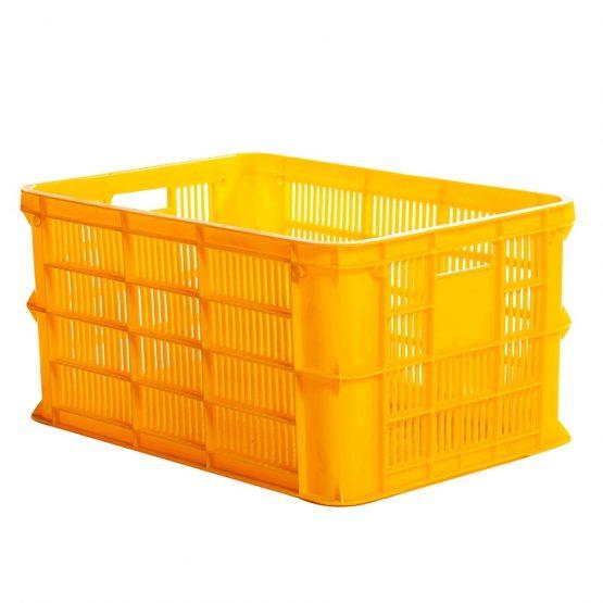 Perforated plastic crate 3T1