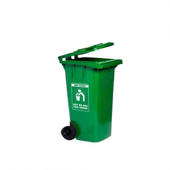 thùng rác nắp kín 120l