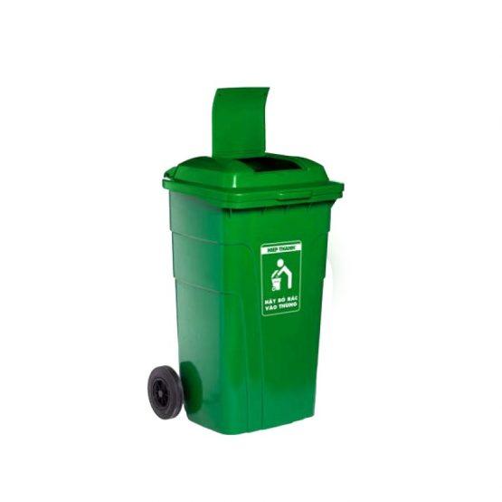 thùng rác nắp kín 150l