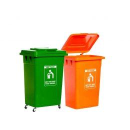 thùng rác nắp kín 90l